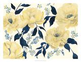 Fleurs D'or et Bleu II Plakater av Grace Popp