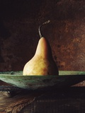 Single Pear in Bowl Metal Print by David Jay Zimmerman
