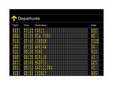 Airport Departures Board Metalldrucke von  z_i_b_i