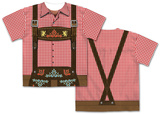 Mens Oktoberfest Costume Tee (Front/Back) Sublimated