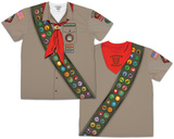 Mens Scout Costume Tee (Front/Back) Sublimated