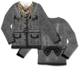 Toddler Long Sleeve:  Houndstooth Jacket Costume Tee (Front/Back) Tシャツ