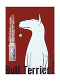 Reclameposter Bulterriër thee met Engelse tekst Kunst op metaal van Ken Bailey