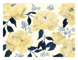 Fleurs D'or et Bleu I Posters av Grace Popp