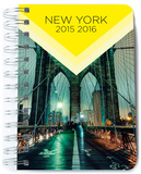 Agenda Escolar Dia Pagina 2015-2016 New York Notizbuch
