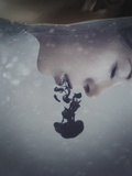 Girls Face in Water Photographic Print by Carolina Hernandez