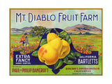 Bancroft, California, Mt. Diablo Fruit Farm Brand Pear Label Metalldrucke von  Lantern Press