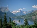 Lake Below Glaciated Peaks Metalldrucke von Neil Rabinowitz