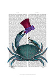 The Dandy Crab Poster von  Fab Funky