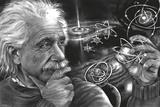 JDH- Einstein Quazar Affiches par James Danger Harvey