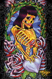 JDH- Skeleton Girl Posters van James Danger Harvey