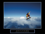 Attitude Stretched Canvas Print