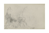 Study for 'Dawn of Waterloo', 1893 Gicléetryck av Lady Butler