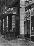 Sign for Standard Buffet Restaurant Photographic Print by William Davis Hassler