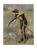 Sharpening the Scythe, 1897 Giclee Print by Ralph Hedley