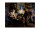 The Cobbler's Shop, 1909 Giclee Print by Ralph Hedley