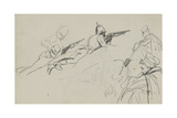 Possible Study for 'Dawn of Waterloo', 1893 Gicléetryck av Lady Butler