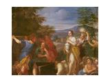 Jacob Protecting Rachel Giclée-tryk af Francesco Albani