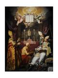 The Four Fathers of the Church, 1632, by Abraham Bloemaert (1566-1651) Netherlands Lámina giclée por Abraham Bloemaert