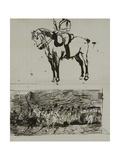 Study of the Battle of Waterloo Gicléetryck av Lady Butler