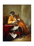 The Monkey Antiquarian, after 1740 Giclee Print by Jean-Baptiste Simeon Chardin
