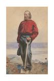 Garibaldi on Caprera, 1860 Giclee Print by Arthur Boyd Houghton
