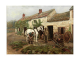 Smithy, Hexham Bridge End, 1885 Giclee Print by Ralph Hedley