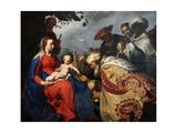 The Adoration of the Magi, 1624 Lámina giclée por Abraham Bloemaert