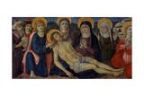 The Lamentation of Christ, C.1500 Giclée-tryk af Guidoccio Di Giovanno Cozzarelli