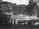 The Boat House, Central Park, New York City, July 19, 1914 Photographic Print by William Davis Hassler