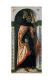 St. Augustine, C.1500 Giclée-tryk af Guidoccio Di Giovanno Cozzarelli
