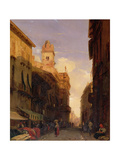 A View of Prince Maffei's Palace, Verona Giclee Print by Richard Parkes Bonington