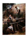 Woodsawyers, 1896 Giclee Print by Ralph Hedley