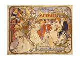 Amants, 1895 ジクレープリント : アルフォンス・ミュシャ