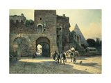 Italy, Rome, Porta San Paolo (St. Paul's Gate) and Pyramid of Caius Cestius Giclee Print by Ettore Roesler Franz