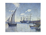 Port De Cette, Les Tartanes, 1892 Gicléetryck av Theo van Rysselberghe
