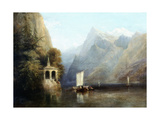 Lake Lucerne with William Tell's Chapel, 1844 Giclee Print by Thomas Miles Richardson
