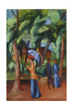 A Stroll in the Park, 1914 Giclée-tryk af August Macke