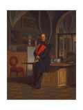 Friedrich Wilhelm IV, King of Prussia, in His Office at Berlin Schloss, after 1846 Giclee Print by Franz Kruger