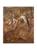 Gathering Bracken, C.1899 Giclee Print by Henry Herbert La Thangue