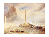 Sunderland Piers in a Storm Giclee Print by Thomas Miles Richardson