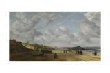 View of Scheveningen Sands, C.1630 Giclée-Druck von Hendrik Van Anthonissen