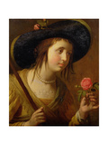 Princess Sophia of Bohemia (1630-1714), Mother of George I as a Shepherdess Giclee Print by Gerrit van Honthorst