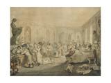Very's Restaurant in the Palais Royal, Paris, 1803 Giclée-tryk af John Nixon