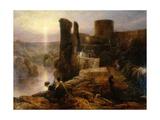 Barnard Castle, County Durham, C.1826 Giclee Print by Thomas Miles Richardson