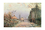 The Road, Effect of Winter; La Route, Effet D'Hiver, 1872 Reproduction procédé giclée par Camille Pissarro