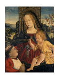 Madonna and Child with a Cardinal as a Benefactor, C.1500 Giclée-tryk af Bernardino di Betto Pinturicchio