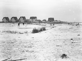 Second Half of a Panorama View of Oceanfront Lots and the Beach, Belle Harbor, Queens Photographic Print by William Davis Hassler