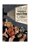 Poster Advertising Edison's Life Size Animated Pictures Giclee Print by Albert Morrow
