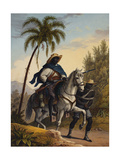 Captain of the Forest with a Prisoner, 1827-35 Giclee Print by Johann Moritz Rugendas